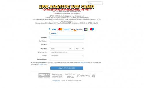 Streamate Review clean billing page